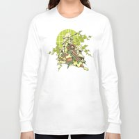 asian Long Sleeve T-shirts featuring Asian spring by Tshirt-Factory