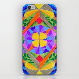Geometric Meditation Mandala iPhone Skin