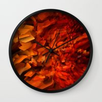 blood Wall Clocks featuring Blood by Paul Kimble