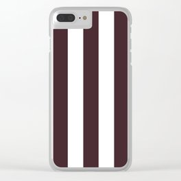Temptress purple - solid color - white vertical lines pattern Clear iPhone Case