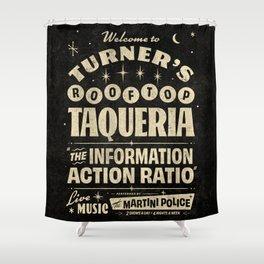 Turner's Rooftop Taqueria - Alt Shower Curtain