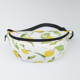 Watercolor Lemon & Leaves Fanny Pack