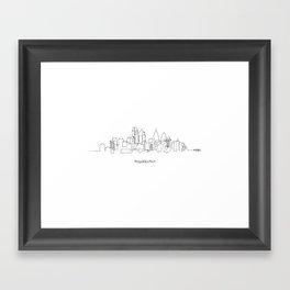 Philadelphia Skyline Drawing Framed Art Print