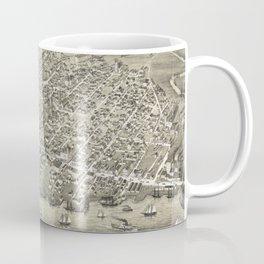 Vintage Pictorial Map of Moncton NB (1888) Coffee Mug