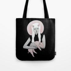 Peonia in Black Tote Bag