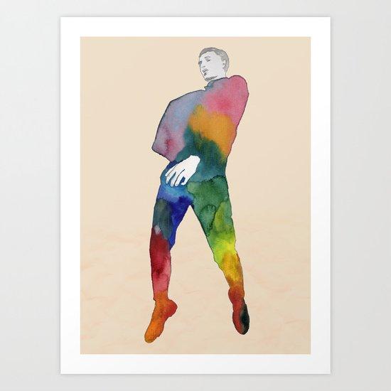 One Two Three - JUMP Art Print