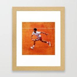 Novak Djokovic Running Framed Art Print