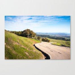Winding road near Hearst Castle Canvas Print