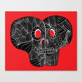 Love Skulls Canvas Print