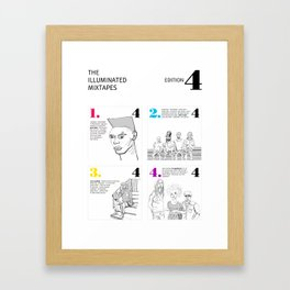 The Illuminated Mixtapes, Edition 4 Framed Art Print