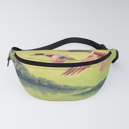 Mallard Ducks In Flight Fanny Pack