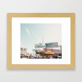 Mel's Drive In Diner Sunset Blvd Hollywood California Framed Art Print