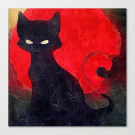 Cat Noir Canvas Print