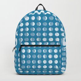 Textured Moon Phases Pattern Backpack