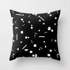 My Favorite Pattern 3 black Throw Pillow
