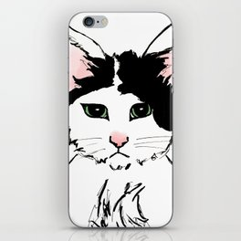 Sadface Cat Sketch iPhone Skin