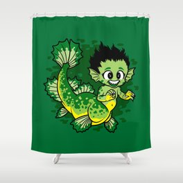 Pond Dragon Shower Curtain