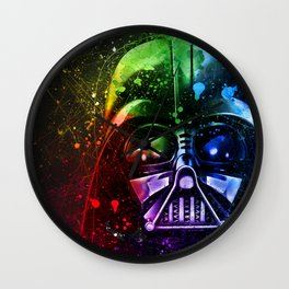 Darth Vader Splash Painting Sci-Fi Fan Art Wall Clock