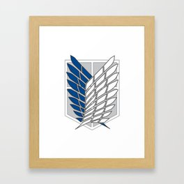 Shingeki no Kyojin - Brigade d'Exploration Framed Art Print