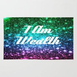 Wealth Affirmation Galaxy Sparkle Stars Rug