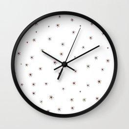 Franciscan Starburst, orange Wall Clock