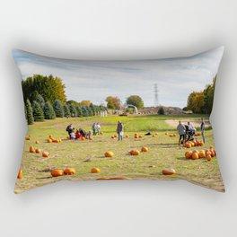 pumpkin patch panorama Rectangular Pillow