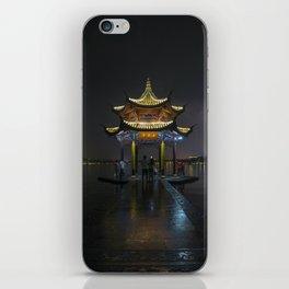 Nighttime Pagoda on West Lake iPhone Skin
