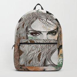 No Hope In Sight: Orange (tattoo girl portrait) Backpack
