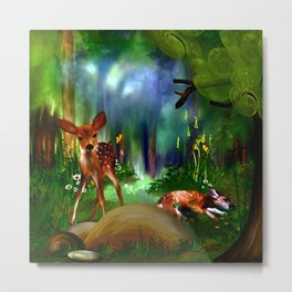 Forest Fawns Metal Print
