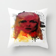 Debbie Harry - Blondie Throw Pillow