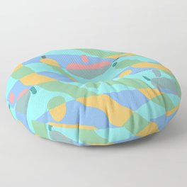 FREE-FORM OBJECTS Graphic Design Illustration Pattern Floor Pillow