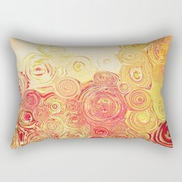 Autumn Rising -- Abstract in Fall Leaf Colors Rectangular Pillow