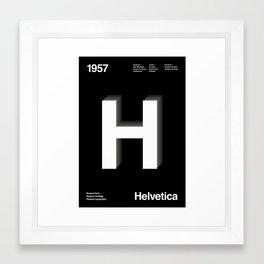 Sans Serif Vol. ¹ – Helvetica Framed Art Print