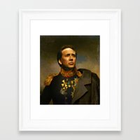 cage Framed Art Prints featuring Nicolas Cage - replaceface by replaceface