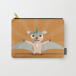 The Dino-zoo: Flying squirrel-saurus Carry-All Pouch