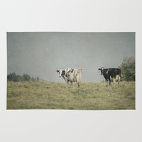 cows Area & Throw Rugs featuring Moo Cows by Pure Nature Photos