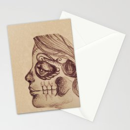 Candy Skull Girl Stationery Cards