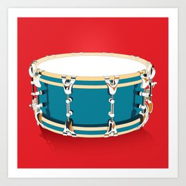 Drum - Red Art Print