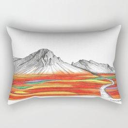 Mountain Landscape Contemporary Art, Mountain drawing, Modern Art, nature , Abstract Art, Mountains Rectangular Pillow