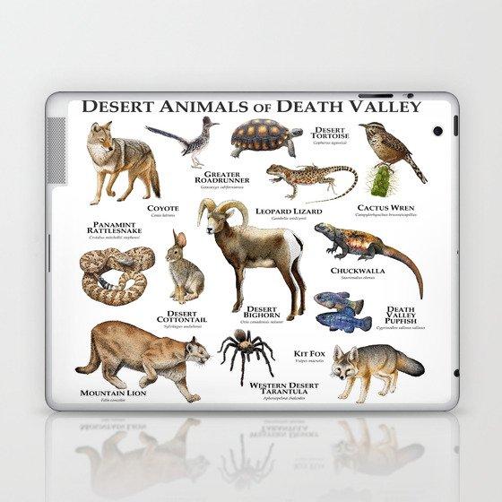 Desert Animals of Death Valley Laptop & iPad Skin by wildlife-art