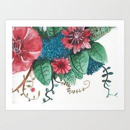 Ruby Botanical 3 Floral Watercolor Art Print