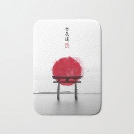 JAPANESE HINOMARU FLAG SIGNS Bath Mat