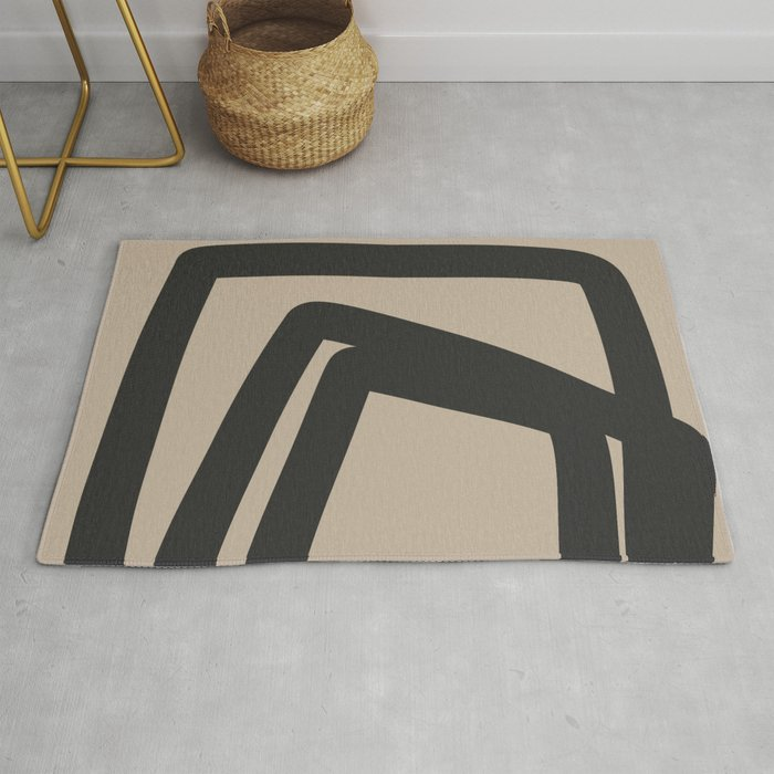 Neutral Abstract 4B Rug