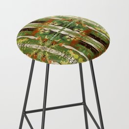Out there in the woods, I feel peace........ Bar Stool