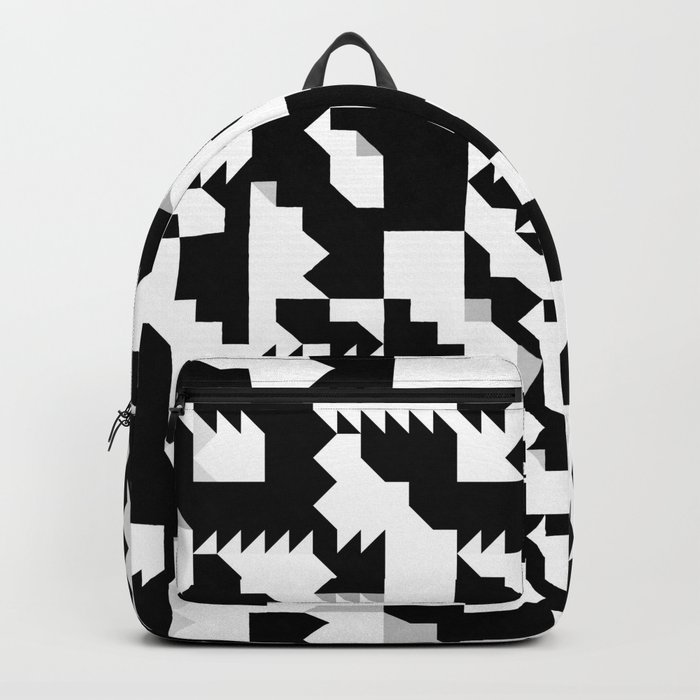Simple Black and White geometrical Pattern Backpack by ... b2d5b2bcee460