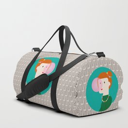 The girl and the bubble gum Duffle Bag