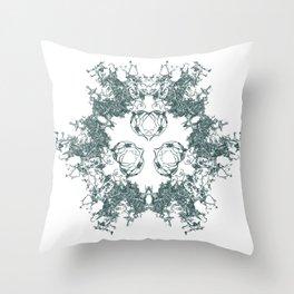Mitosis (No. 1) | Slate grey Throw Pillow