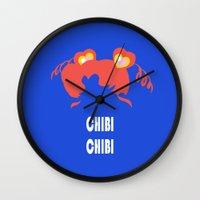chibi Wall Clocks featuring chibi chibi by Michi Donaho