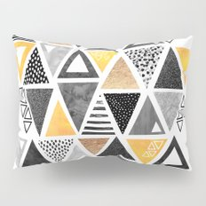 Triangle Abstract / Black & Yellow Pillow Sham