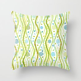 Sea Spring Throw Pillow